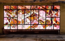 Stained Glass Window in an Abandoned Soviet Cultural Center