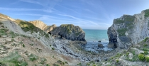 Stair hole near lulworth Dorset
