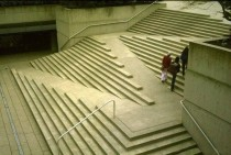 Staircase and Wheelchair ramp