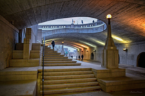 Staircase beneath Plaza Bridge in Ottawa connecting Rideau Street with Wellington Street
