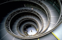 Staircase in the Vatican Museum x