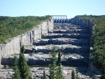 Staircase of the Giants spillway of the Robert-Bourassa generating station in northern Qubec Each step is m high