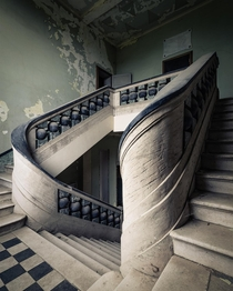 Stairs in an abandoned orphanage Italy