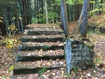 Stairs to old house that burned down back in the s Album in comments