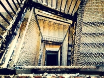 Stairwell in an abandoned sanitarium in CT
