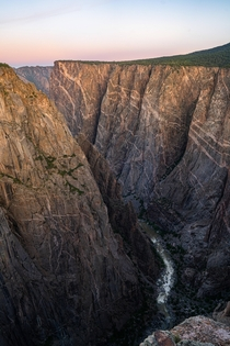 Standing at the edge of a  ft cliff certainly kept me awake while shooting Black Canyon during sunrise
