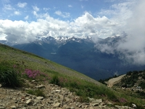 Standing atop Whistler BC Canada