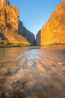 Standing in international waters during a spectacular sunrise - Santa Elena Canyon Big Bend National Park x