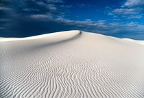 Standing on the dunes of White Sands NM felt like being adrift on a white sea of an alien planet