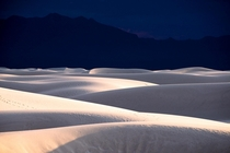 Standing on the dunes of White Sands NM felt like being on a white sea