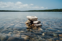 Standing out of the crowd Rocks on Cyprus Lake Bruce Peninsula ON