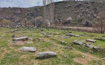 STANOZ Ruins of an old Armenian village and Armenian graveyard in the suburbs of Ankara Turkey