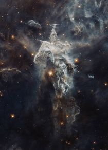 Star birthing region in the Carina Nebula