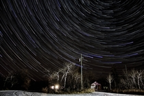 Star Trails over Manitoba Canada