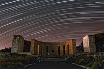 Star Trails over Massey Memorial - Wellington NZ