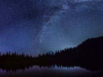 Star watching from Mirror Lake Mt Hood Oregon last night