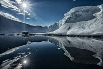 Starburst Reflection Antarctica by Martin Bailey