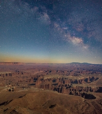 Starry night in Canyonlands NP