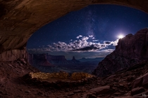 Starry Night in the False Kiva Utah