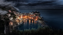 Starry Night in Vernazza Le Cinque Terre Italy