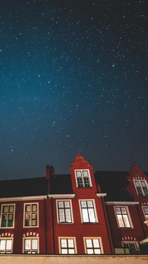 Starry night over a convent