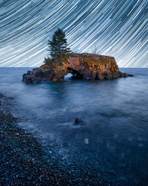 Starry Night Over Hollow Rock Minnesota