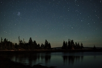 Starry night over Vinalhaven Maine