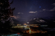Starry Night Sky over Banff AB Canada