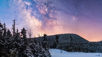 Starry Winter Wonderland this morning in New Hampshire Doesnt Look Like Spring Yet