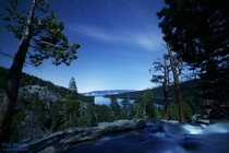 Stars over Eagle Falls  Emerald Bay Lake Tahoe the night before last