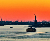Staten Island Ferry passing the Statue of Liberty