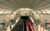Station in the Bilbao Metro in Spain designed by Norman Foster