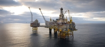 Statoils Oseberg offshore oil and gas field platform in the North Sea