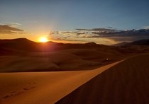 Stayed until  to get this beautiful pic Totally worth the walk back in the dark Great Sand Dunes NP CO