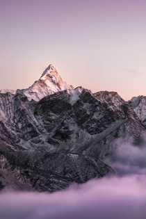 Stayed up above  feet at -C to take this Sunset at Ama Dablam in the Himalayan Khumbu Region - Nepal