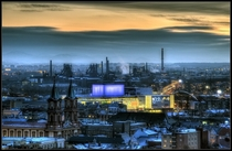 Steamy city of Ostrava Czech Republic