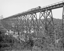 Steel viaduct over Des Moines River Iowa Chicago amp North Western Railway  by William Henry Jackson