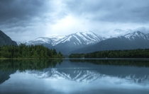 Stellar views across the zig-zagging Kenai Lake Kenai Peninsula Alaska