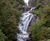 Stevensons falls on a cold summer day in Marysville VIC AUS