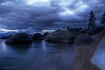 Stilled Water and Surreal Skies over east shore Lake Tahoe last weeked