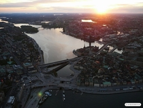 Stockholm in the setting sun