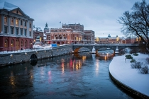 Stockholm Sweden - River Canal in Winter