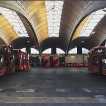 Stockwell Bus Garage At the time of construction it was the largest concrete span in Europe