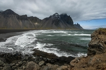 Stokksnes beach in east Iceland