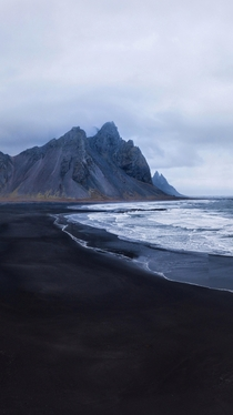 Stokksness beach and Vestrahorn mountain in Iceland