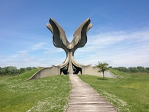 Stone Flower by Bogdan Bogdanovi in Jasenovac Croatia