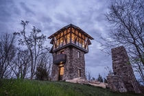 Stone Observatory Tower converted to a home by Pfeffer Torode Architecture