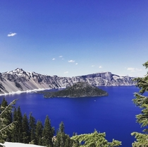 Stopped by Crater Lake as part of a  day cross country trip after graduating college Worth the stop