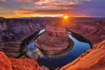 Stopped by Horseshoe Bend for a sunset