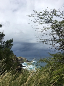 Storm approaching Hana Hawaii